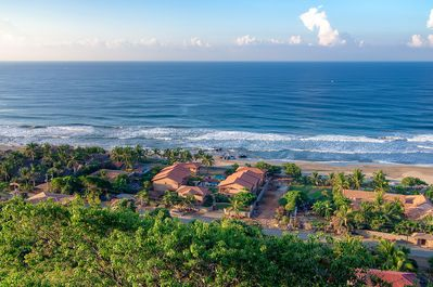 The Villas from above. Perfectly located, just a short walk from Troncones town.