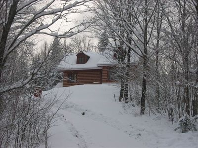 The chalet in winter - we get a lot of snow!