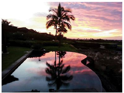 The infinity pool at sunset...