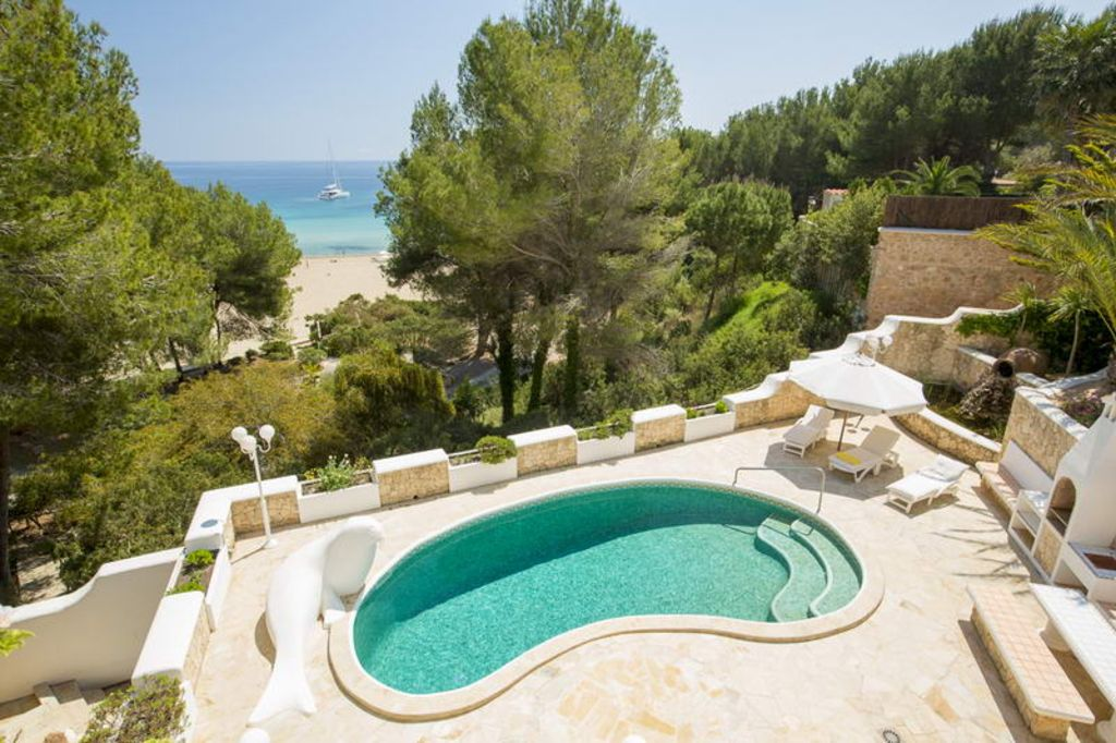 Top Holiday Villa With Pool, 1st Line On The Beach   Unique In Ibiza
