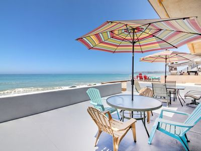 Photo for Stunning 3BR Oceanfront w/ Patio! Near San Clemente & Dana Point