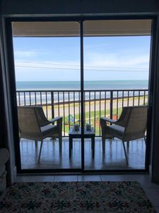 Photo for Amazing Ocean Front. Balcony. Pool. Ormond Beach/Daytona - Sandy Feet Retreat.