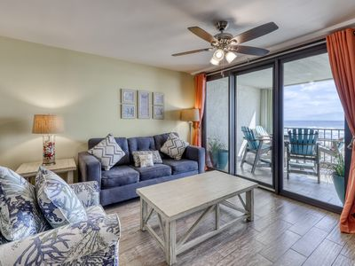 Photo for Waterfront condo w/ beach views, shared pools, tennis, & free WiFi