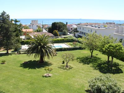 Photo for T2 apartment renovated, swimming pool and sea view.