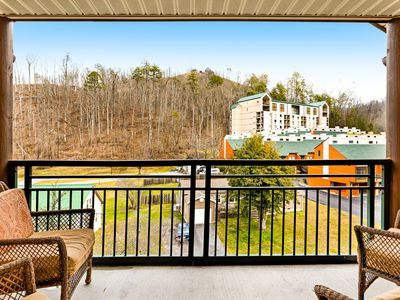 Photo for Luxury downtown condo w/ jetted tub, fireplace & shared pool/hot tub!