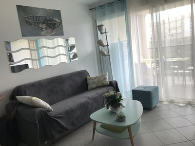 Photo for Very nice T2 apartment, close to the beach and shops, 40m2 + 11m2 terrace