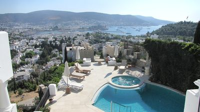Photo for A luxury 6 bedroom villa with Aegean sea view with private pool and jakuzi..
