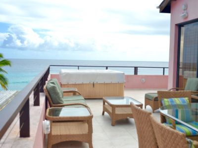 Photo for Awesome Rooftop Penthouse in St Lawrence Gap, overlooking the Caribbean Sea