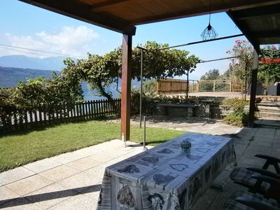 Photo for Apartment with Terrace in peaceful surroundings and outlook across the lake.