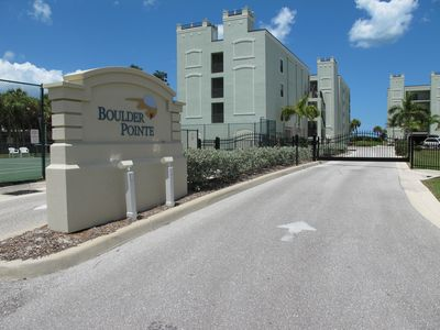 Boulder Pointe is a gated community of 19 units with pools and a tennis court