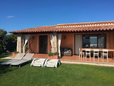Photo for Villa with porch and wide garden,looking over the sea,with breathtaking view,within walking distance from the most beautiful beaches of the Northeastern Coast of Sardinia