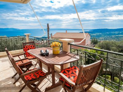 Photo for Spacious 3 bedroom apartment with Ionian sea view!