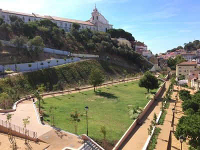 Photo for Old Town of Lisbon, stunning 180º view of Castelo, 3-room apartment with terrace