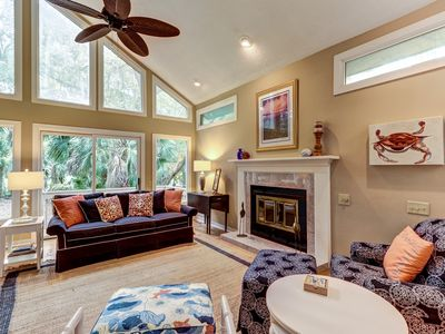 Photo for NEW LISTING! Spacious home on Cougar Point's 11th fairway-350 yards to the beach