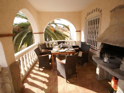 Photo for Stylish 120 sqm apartment in a beautiful villa in the center, with pool, terraces, barbecue