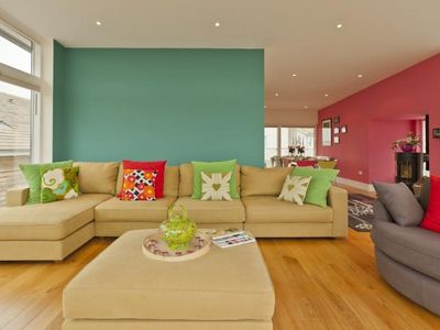 Photo for Lower Mill holiday house rental with shared indoor pool, balcony/terrace