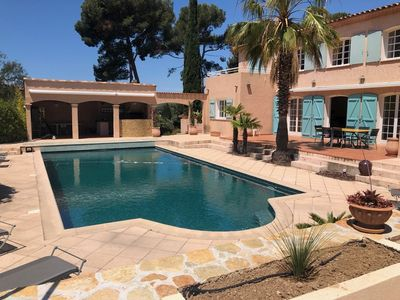Photo for BEAUTIFUL FAMILY VILLA LARGE GARDEN AND POOL  / FOR 8