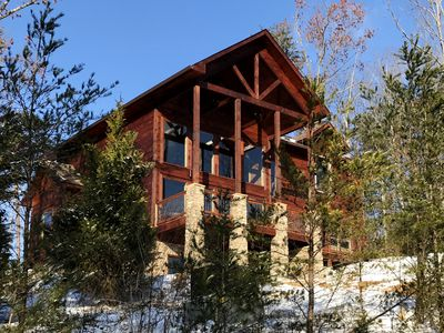 Photo for BRAND NEW LUXURIOUS 4 BR/4 BA MOUNTAIN RETREAT W/GORGEOUS VIEWS OF MT LeCONTE!