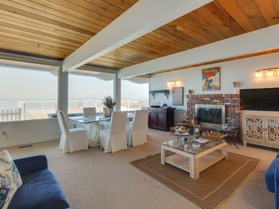Photo for Bay-front rental w/ views & hot tub, across street from beach