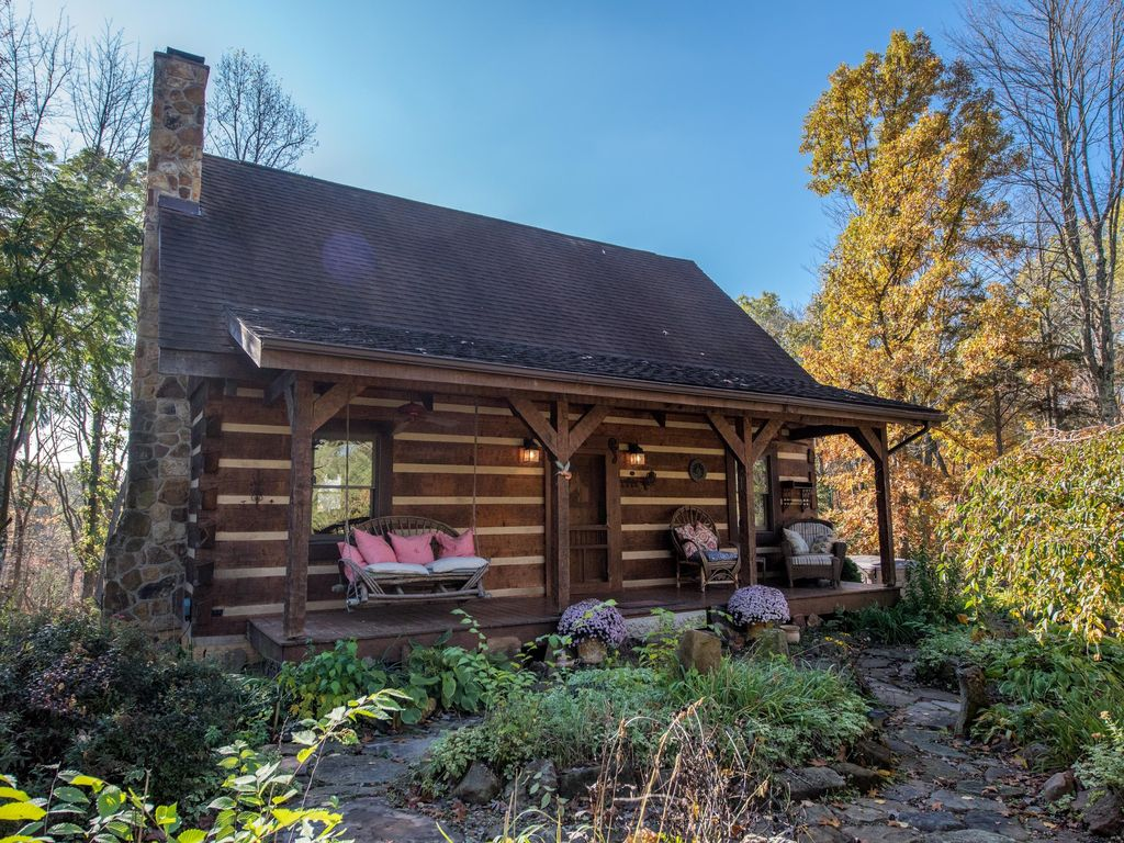 slide cabins getaway cottages pet hocking h friendly and hills in