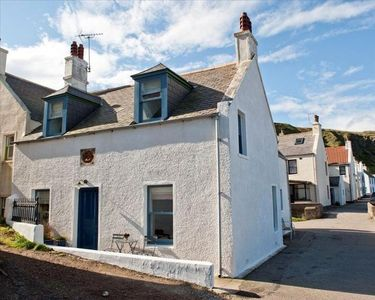 The Harbour House situated right next to Pennan`s pretty 18th century harbour.