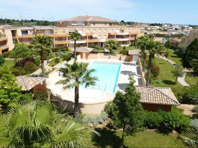 Photo for Appart 100m² - 3Ch - 6/8 Pers - Heated swimming pool - Beach 10min - Clim