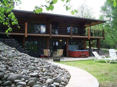 Lake Side of House, Patio and Hot Tub