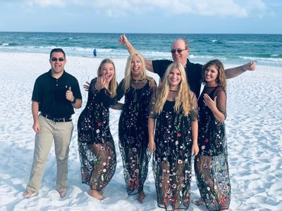 On the white sugar sands of Fort Walton Beach 2019