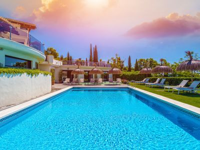 Photo for Exclusive villa with stunning views over the sea and the mountains