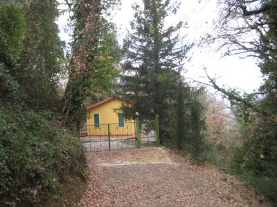Photo for Chalet Romantic and peaceful - one bedroom, covered panoramic terrace barbecue