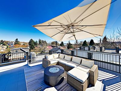 Rooftop Deck - Seattle townhome with rooftop patio, professionally managed and maintained by TurnKey Vacation Rentals.