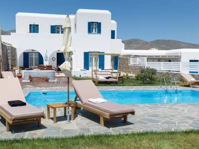 Photo for Villa Wave - Where Traditional Cycladic architecture meets luxury