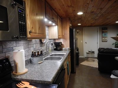 Newly remodeled with full size appliances, dishwasher and all.