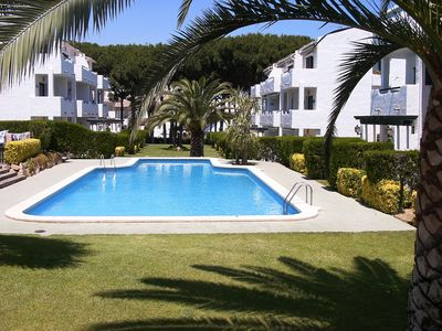 Photo for Ground Floor Apartment with Pool Gardens & shaded play area. Playa De Pals, Pals