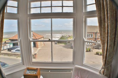 Sea views from the front of the house