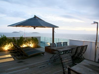 Photo for Incred.***** stars Penthouse with 360° view on the best beach of Ipanema and Rio