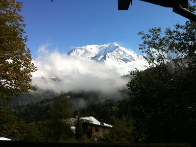 Photo for Chalet with view for rent in Saint-Gervais (= winter ski in / out)