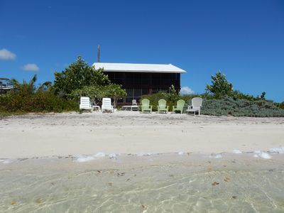 Photo for Bonefish Bay Private and Secluded Beachfront House, 100% Solar and Wind Powered