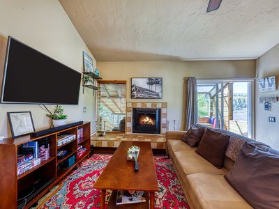 Photo for Cute cabin-style condo 1/2-mile from Giant Steps Ski Lodge - one dog okay!