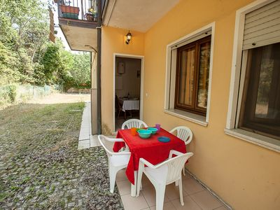 Photo for Holiday apartment Ground floor apartment just steps from the sea with a washing machine