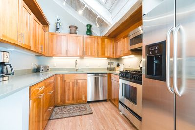 Recently remodeled kitchen is fully equipped.
