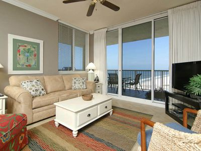Photo for A-1702; Gulf Front balcony; family resort; 24-7 onsite security;