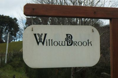 The WillowBrook sign at the gate