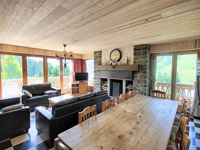 Photo for Savoyard chalet, located on the road Chavannes, about 500 m from the center of the resort village.