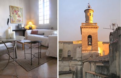 Photo for Elegant 2-bed/2-bath apartment overlooking Place aux Herbes in historic Uzes