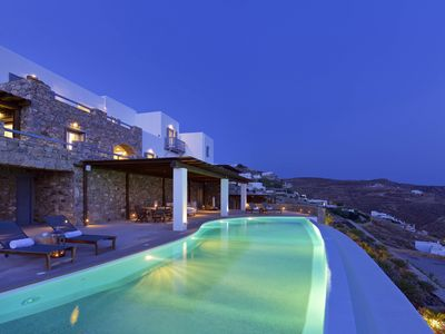 Photo for Wonderful 9-bedroom Mykonos villa, Aegean Treasure, contact us today for best rates!