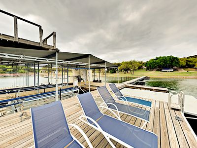 Photo for Well-Appointed Lake Travis Home w/ Private Dock & Backyard Retreat