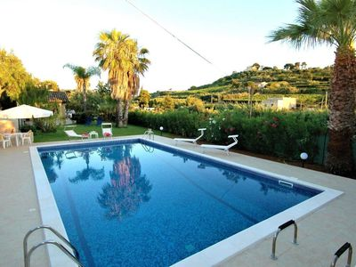Photo for House in the center of Trappeto with Pool, Air conditioning, Parking, Washing machine (300521)