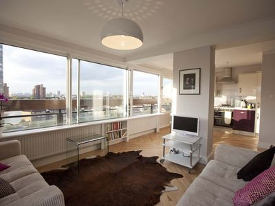 Photo for Sparkling Two Double-bedroom Riverside Flat Overlooking Chelsea and Kensington