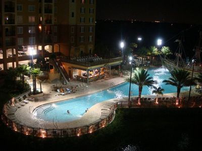 Photo for WOW!! Luxury Condo,Pirate Ship, Nr Disney, Renovated,Free Shuttle, Wifi, Parking